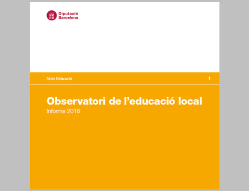 Es publica l'Informe 2016 de l'Observatori de l'educació local de la Diputació de Barcelona