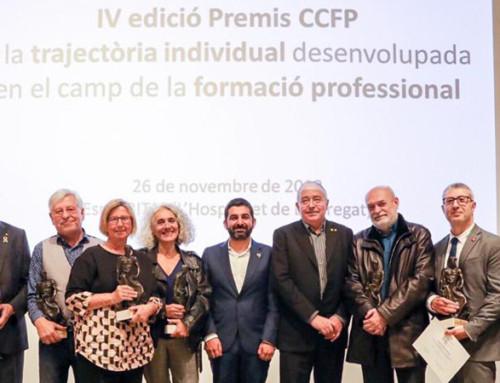 Begonya Gasch, directora general de la Fundació El Llindar, galardonada en los IV Premios del Consell Català de Formació Professional