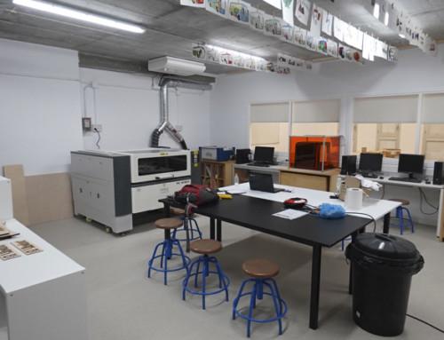 El alcalde de Cornellà de Llobregat inaugura el nuevo GarageLab de El Llindar y la Fundación Orange
